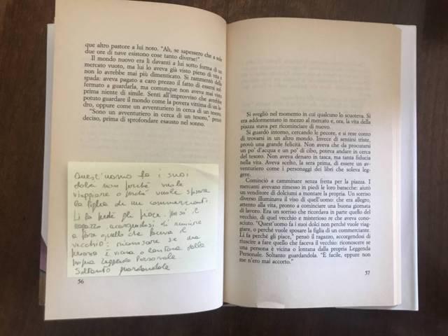 appunti del libro l'Alchimista di Coelho