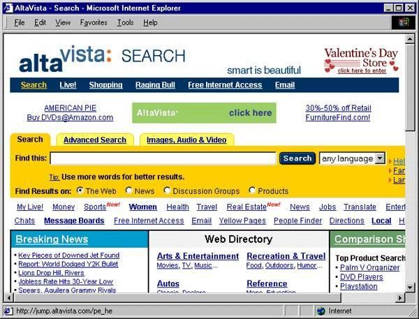 Altavista homepage