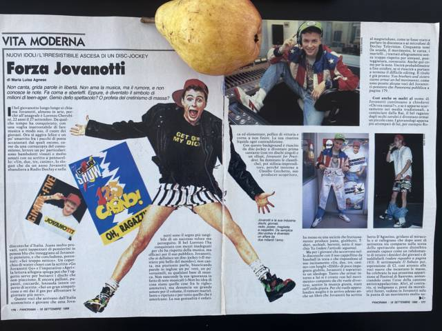 Lorenzo Jovanotti - articolo Panorama 1988