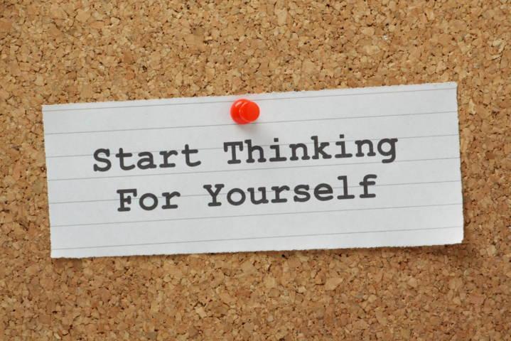 Come pensare con la propria testa